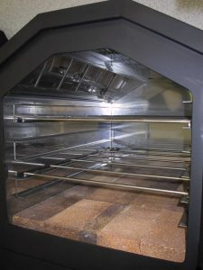 Horno con interior inoxidable